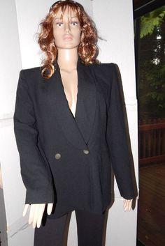 Linda Allard Ellen Tracy nwt blazer jacket womans black sz 16 lined solid #LindaAllardEllenTracy #Blazer