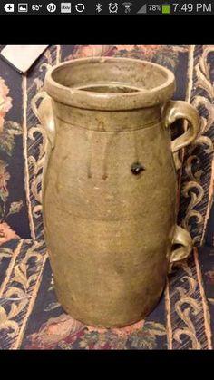 Southern Pottery Two Handled 3 Gallon Jar Alkaline Glaze