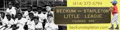 Hupy and Abraham, S.C. Sponsors the Beckum-Stapleton Little League Baseball Team