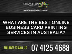 What are The Best Online Business Card Printing Services in Australia? Business Cards Online, Card Printing, Printing Services, Australia, Good Things, Feelings