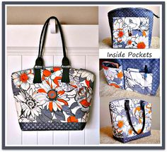 The Nina Bag – PDF Sewing Pattern + Sew a Trendy Handbag Handle from Ar☉und the B☉bbin and Bari J.