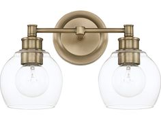 Bathroom Vanity Lights With Clear Glass Shades octave bathroom vanity light | incandescent bulbs, bronze finish