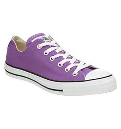 I grew up with Converse...as I'm sure pretty much everyone since the 50s has. I started with a pair of red low-tops and would only wear red ones for years. Now I want purples.