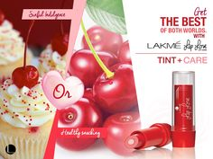 Add a little tint with lots of care! #Lakme #LipLove #LipBalm #Lips #Cherry #Red #Fashion