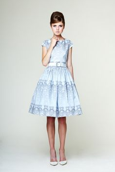 Manon Сotton dress with low back made of Liberty by mrspomeranz, £219.00