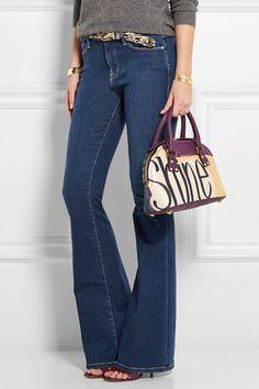 Burberry Prorsum|Printed textured-leather shoulder bag|NET-A-PORTER.COM #burberrybag #burberry #women #designer #covetme