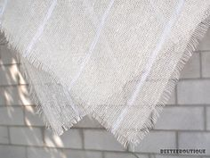 24x24 Ivory Burlap  Linen layering Wrap Blanket  by BeeTeeBoutique