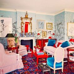 AT REST WITH RED | Mark D. Sikes: Chic People, Glamorous Places, Stylish Things