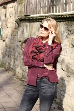 Marsala outfit for her
