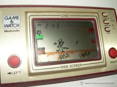 JUEGO NINTENDO GAME & WATCH CHEF FUNCIONA PERFECTAMENTE....AÑO 1.981