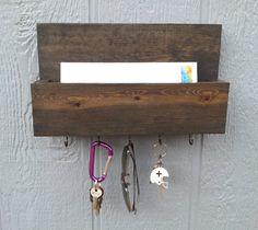 Mail and Key Rack / Mail Organizer / Mail and Key by CedarOaks