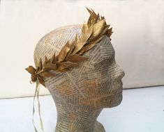 Gold Leaf Crown, Gold Leaf Headband, Gold Headpiece, Headband Hair, Greek God Costume, Greek Goddess Costume, Greek Costumes, Mardi Gras, Toga Costume