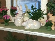 Adorable Set of Two Pierced Bunnies Illuminate and run on a 6 hour timer  H202382 http://qvc.co/-Shop-ValerieParrHill