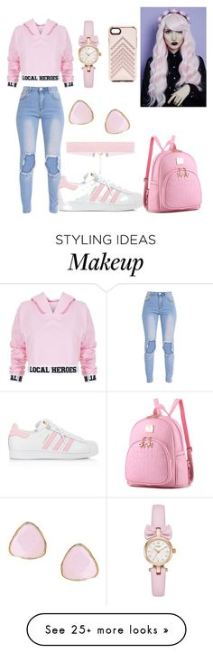 """""""Unbenannt #1"""" by sunnythepandicorn on Polyvore featuring Local Heroes, adidas, Ottoman Hands and Rebecca Minkoff"""