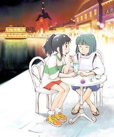#Spirited Away Chihiro and Haku