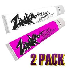 """Zinka Colored Sunblock Zinc Nosecoat 2 Pack Bundle - White Pink by Zinka. $10.42. Zinka Nosecoat works as a sunblock not as a """"sunscreen"""" and is made from zinc-oxide. Zinka's proven formula withstands the most extreme weather conditions performing flawlessly in wind, hot, cold & wet. Zinka Nosecoat offers the absolute maximum protection available from the sun's harmful rays. Endorsed by Dermatologists and extreme athletes worldwide, Zinka protects & performs!...."""