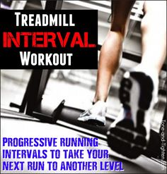 Take your next run to a whole new level with this progressive treadmill interval workout! #run #running #workout from Tone-and-Tighten.com
