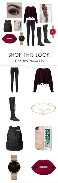 """""""On the Run"""" by huismkyl on Polyvore featuring rag & bone, Joie, Anissa Kermiche, The North Face, Rebecca Minkoff, CLUSE, Lime Crime and Allurez"""