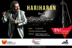 The legendary voice is set to reprise the golden era.  Book your evening #Hariharan #Live In #Concert', Dublin Square, #Mumbai on 4th July.  Book the seats now: http://fastticket.in/event/hariharan-live-in-concert