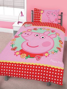 Another bed set Bedroom Themes, Kids Bedroom, Bedroom Ideas, Bedrooms, Peppa Pig Family, Pig Party, Big Girl Rooms, Bedding Sets, Little Girls