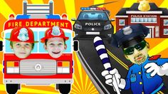 Little heroes firefighters to the rescue Bad Baby with fire truck 2 . Po...