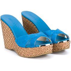 4792ca8d8 Jimmy Choo Perfume Suede And Cork Wedge Sandals
