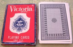Vintage Victoria Brand King Size Playing Cards by BigGDesigns on Etsy