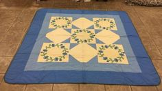 Large Vintage quilt approximately 6 feet long by