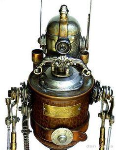 steampunk robot art, steampunk art, steampunk underground