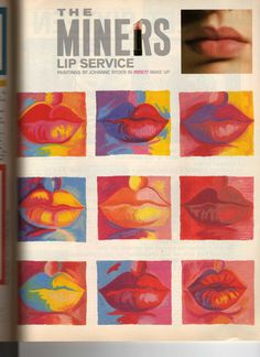 Vintage 80's / 90's Miners Lip make up Ad