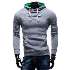 Encontrar Más Camisas y Sudaderas Información acerca de 2016 nuevo diseño para  hombre Causal hoodies da5a209026f