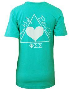 Phi Sigma Sigma Aim High V-Neck by Adam Block Design | Custom Greek Apparel & Sorority Clothes | www.adamblockdesign.com
