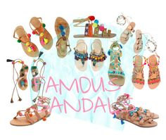 """""""FAMOUS SANDALS"""" by zosia-zawa ❤ liked on Polyvore featuring Ancient Greek Sandals, Elina Linardaki, Sam Edelman, Mystique and New Look"""