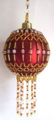 beaded+christmas+ornaments+free+patterns | X302 Bead PATTERN ONLY Beaded Cleopatra Christmas Ornament Cover ...