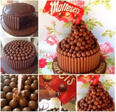 How to: Floating Malteser Cake! So, some of you will have seen my floating Malteser cake I posted at the weekend. Easy Cake Recipes, Sweet Recipes, Malteser Cake, Gravity Cake, Cake Hacks, Cake Decorating Supplies, Christmas Pudding, Pudding Cake, Cake Videos