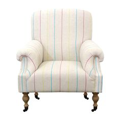 love the colorful stripes in this chair