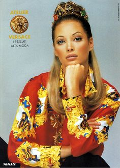 Christy Turlington Versace F/W 1992                                                                                                                                                                                 More