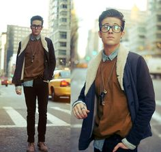 Caramel & chains (by Adam Gallagher) http://lookbook.nu/look/3064259-Caramel-chains