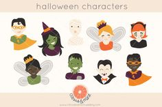 halloween costume clip art by Citrus and Mint on Creative Market #halloween #halloweenparty #halloweencostume #scrapbooking #digitalscrapbooking #invitations