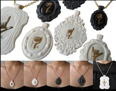Porcelain jewelry by Listen Lady: When the pendant reveals the self