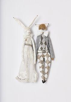 Kristi and Tim bespoke handmade wedding couple by Alice Mary Lynch Doll Maker