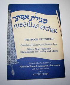 1976 Megillas Esther Booklet Purim Story Vintage Jewish Prayer Mesivtha Tifereth