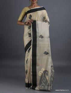 Maithali Sprout of Leaf #CoimbatoreSilkCottonSaree
