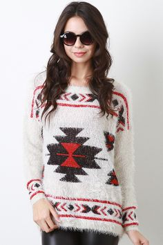 Tribal Aesthetic Sweater S or M