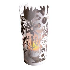 Flower Meadow Papercut Cylinder Lantern