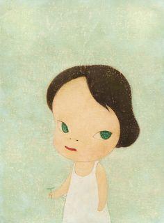 yoshitomo nara(1959- ), moe no suzaku, 1997. acrylic, coloured pencil on paper, 36.6 x30 cm. sotheby's