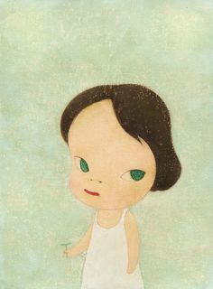 yoshitomo nara(1959- ), moe no suzaku, 1997. acrylic, coloured pencil on paper, 36.6 x 30 cm. sotheby's