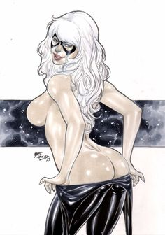 Black Cat artwork by Fred Benes
