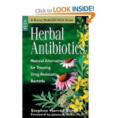 Herbal Antibiotics. Looks like one I need!