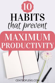 Find out how you can prevent forming these habits that prevent you from achieving maximum productivity! #productivity #productivityhacks #productivitytips #productivehabits #getstuffdone #lifehacks